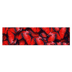 The Red Butterflies Sticking Together In The Nature Satin Scarf (oblong)