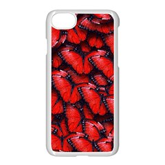 The Red Butterflies Sticking Together In The Nature Apple Iphone 7 Seamless Case (white) by BangZart