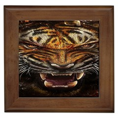 Tiger Face Framed Tiles by BangZart