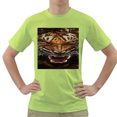 Tiger Face Green T Shirt