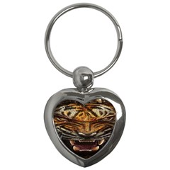 Tiger Face Key Chains (heart)