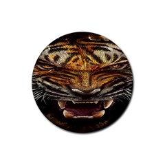 Tiger Face Rubber Coaster (round)