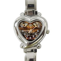 Tiger Face Heart Italian Charm Watch by BangZart