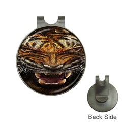 Tiger Face Hat Clips With Golf Markers