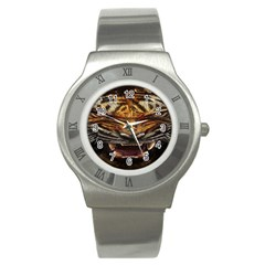 Tiger Face Stainless Steel Watch by BangZart