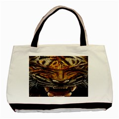 Tiger Face Basic Tote Bag by BangZart