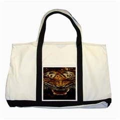 Tiger Face Two Tone Tote Bag by BangZart