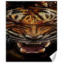 Tiger Face Canvas 8  X 10  by BangZart