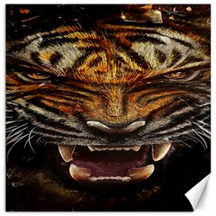 Tiger Face Canvas 12  X 12   by BangZart