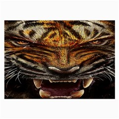 Tiger Face Large Glasses Cloth by BangZart