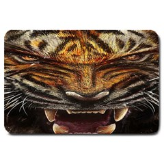 Tiger Face Large Doormat  by BangZart