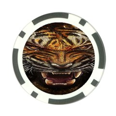 Tiger Face Poker Chip Card Guard