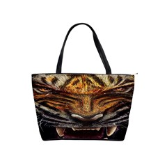 Tiger Face Shoulder Handbags by BangZart