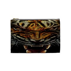 Tiger Face Cosmetic Bag (medium)  by BangZart