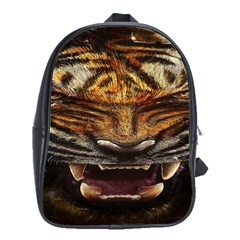 Tiger Face School Bags(large)  by BangZart
