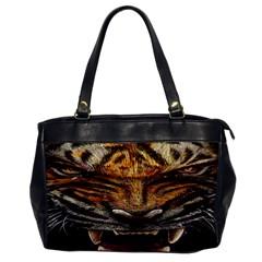 Tiger Face Office Handbags by BangZart