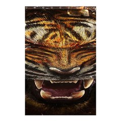 Tiger Face Shower Curtain 48  X 72  (small)  by BangZart
