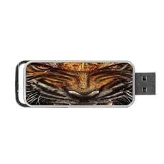 Tiger Face Portable Usb Flash (two Sides) by BangZart