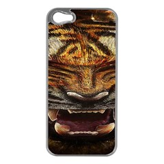 Tiger Face Apple Iphone 5 Case (silver)