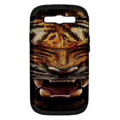 Tiger Face Samsung Galaxy S Iii Hardshell Case (pc+silicone)