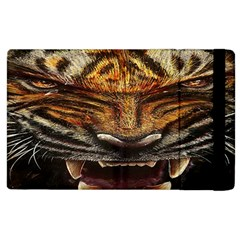 Tiger Face Apple Ipad 3/4 Flip Case by BangZart
