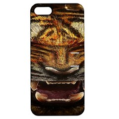 Tiger Face Apple Iphone 5 Hardshell Case With Stand by BangZart