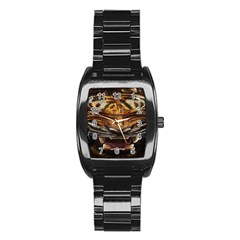 Tiger Face Stainless Steel Barrel Watch