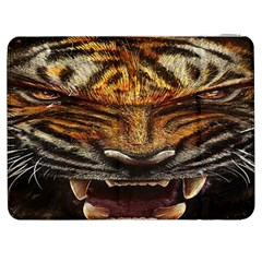 Tiger Face Samsung Galaxy Tab 7  P1000 Flip Case by BangZart