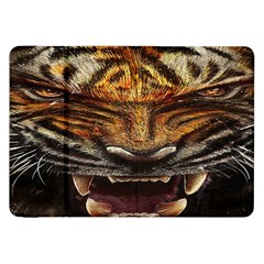 Tiger Face Samsung Galaxy Tab 8 9  P7300 Flip Case by BangZart