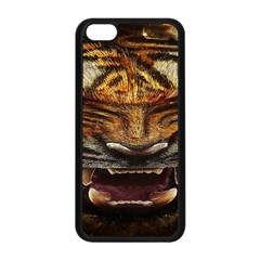 Tiger Face Apple Iphone 5c Seamless Case (black) by BangZart