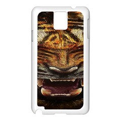 Tiger Face Samsung Galaxy Note 3 N9005 Case (white)