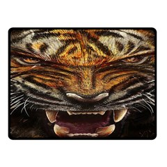 Tiger Face Double Sided Fleece Blanket (small)