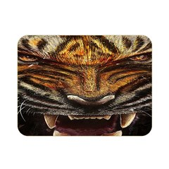 Tiger Face Double Sided Flano Blanket (mini)  by BangZart
