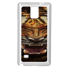 Tiger Face Samsung Galaxy Note 4 Case (white) by BangZart