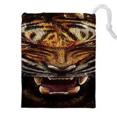 Tiger Face Drawstring Pouches (xxl)