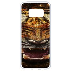 Tiger Face Samsung Galaxy S8 White Seamless Case