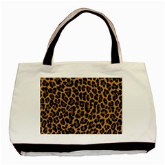 Tiger Skin Art Pattern Basic Tote Bag by BangZart