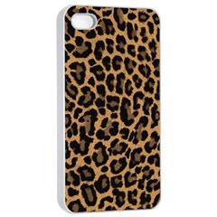 Tiger Skin Art Pattern Apple Iphone 4/4s Seamless Case (white) by BangZart