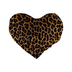 Tiger Skin Art Pattern Standard 16  Premium Heart Shape Cushions by BangZart