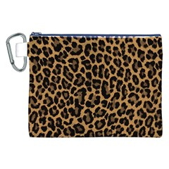 Tiger Skin Art Pattern Canvas Cosmetic Bag (xxl) by BangZart