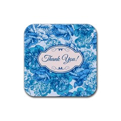 Thank You Rubber Square Coaster (4 Pack)  by BangZart