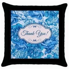 Thank You Throw Pillow Case (black) by BangZart
