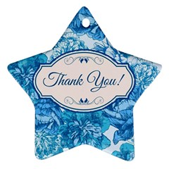 Thank You Star Ornament (two Sides)
