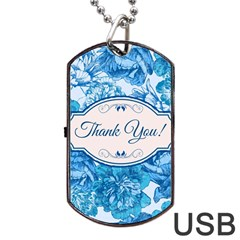 Thank You Dog Tag Usb Flash (two Sides) by BangZart