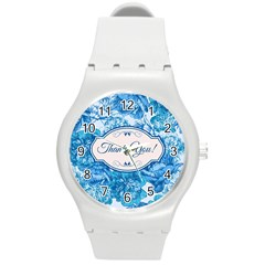 Thank You Round Plastic Sport Watch (m) by BangZart