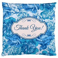 Thank You Large Cushion Case (two Sides) by BangZart