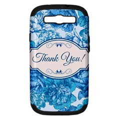 Thank You Samsung Galaxy S Iii Hardshell Case (pc+silicone) by BangZart