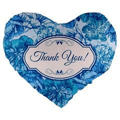 Thank You Large 19  Premium Heart Shape Cushions by BangZart