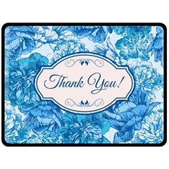 Thank You Double Sided Fleece Blanket (large)  by BangZart