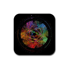 The Art Links Pi Rubber Square Coaster (4 Pack)  by BangZart